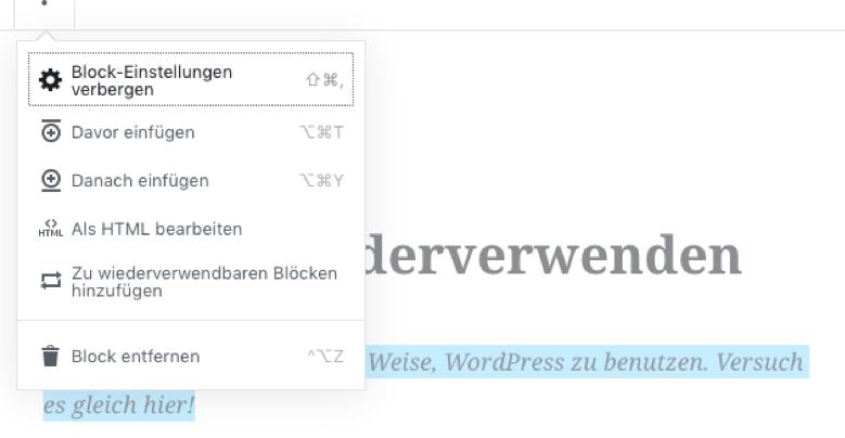 Gutenberg Editor Blocksystem