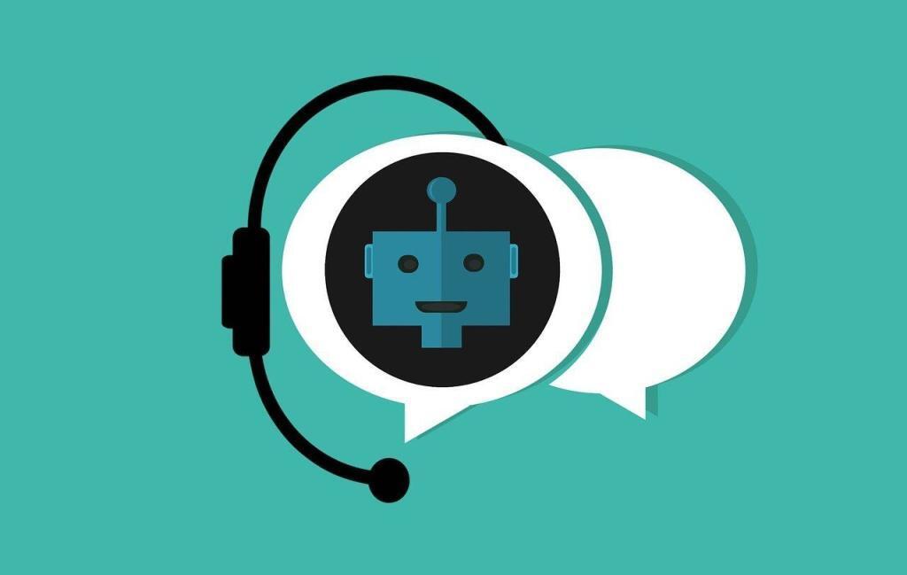 Comic-Darstellung von Chatbot vor Sprechblasen