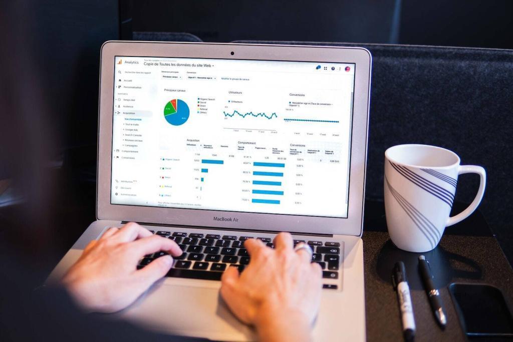 Google Analytics Dashboard auf Laptop